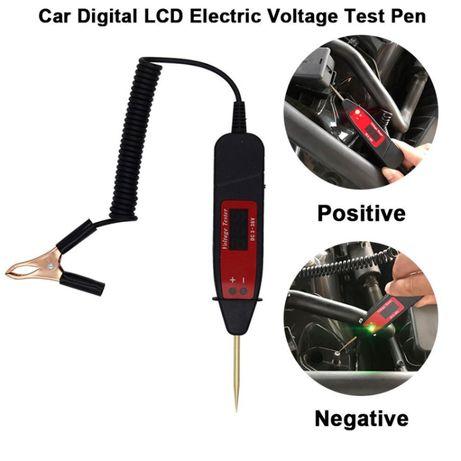 Medidor de Tensão Ferramenta de diagnóstico 5-36V lcd circuito carro