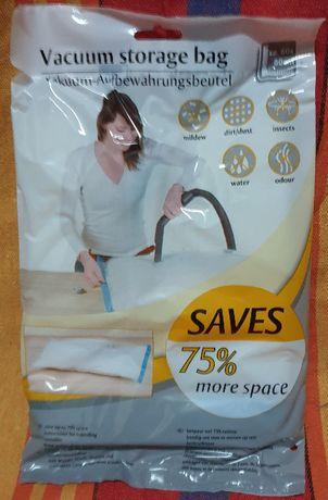 Вакуумный пакет с клапаном для пылесоса 60х80 см