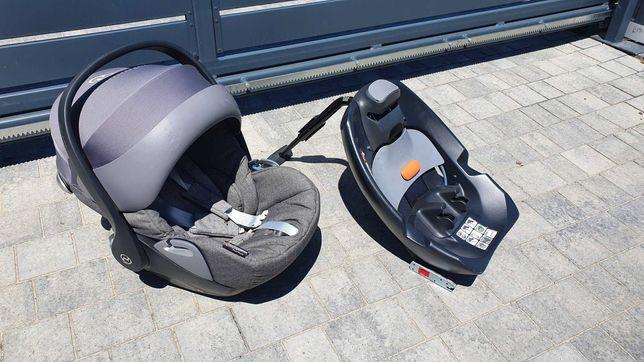 Fotelik dziecięcy Cybex Cloud rozkładany + baza i wkładka niemowlęca.