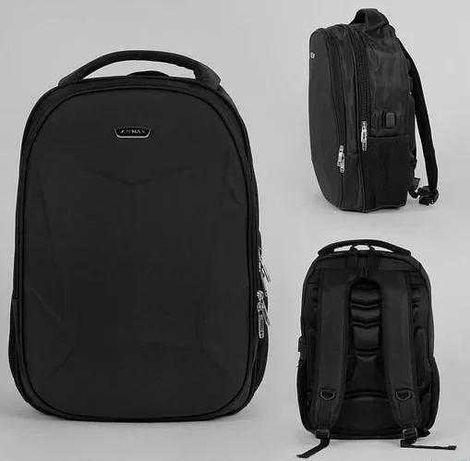 Рюкзак подростковый защитный бампер, usb кабель, ортп. спинка 43658