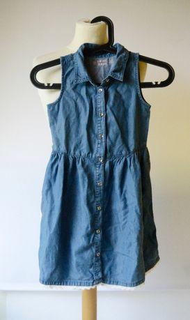 Sukienka Dzinsowa Cubus Denim 122 cm 7 lat Jeansowa Dzins Zara H&M
