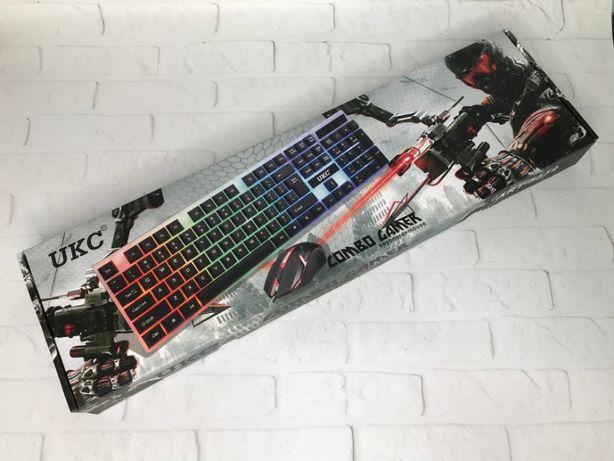 Комплект клавиатура с LED подсветкой + мышь K 01 / M 416