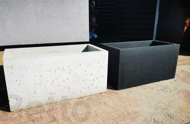 DONICA betonowa 50x100x50 donica bez dna ogród beton GRAFIT ŁDZ