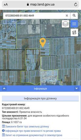 Продам земельні ДІЛЯНКИ в с. Липини