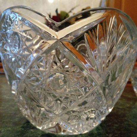 сервиз хрусталь 4 вазы салатницы Богемия и ваза бокал оникс