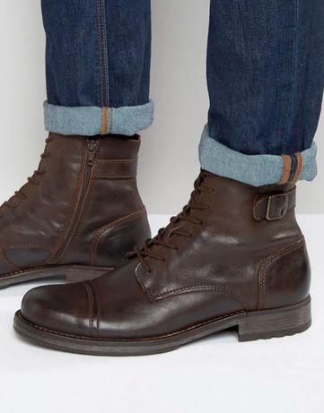 Чоловічі шкіряні черевики Jack & Jones, Португалія, 43 розмір