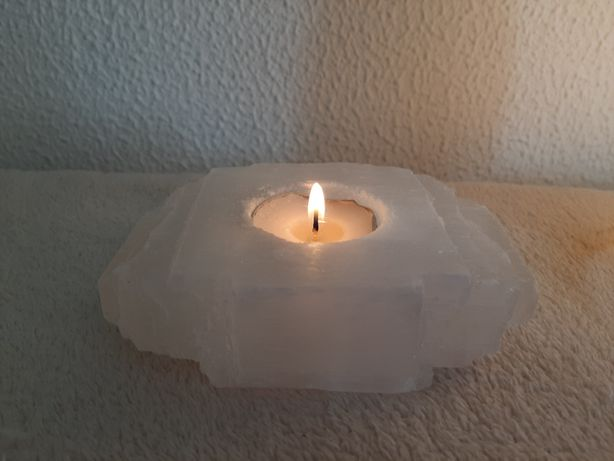 Porta velas Selenite