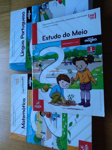 Pasta mágica3.Manual e livro de fichas pt, mar e e.meio. intactos!