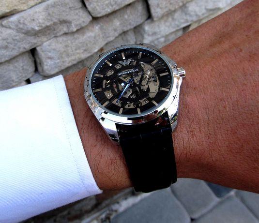 2 Цвета Часы мужские наручные механические скелетон Лучший подарок