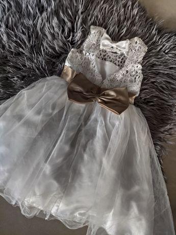 Sukienka 92-98 cudo na komunię, wesele, przyjęcie