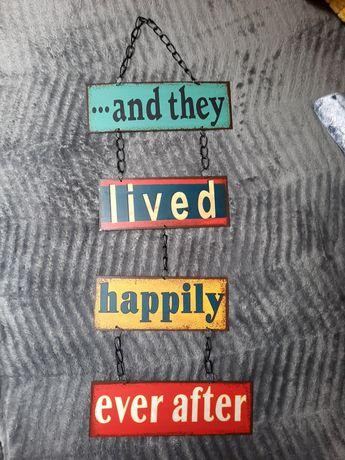 Żyli długo i szczęśliwie tabliczka
