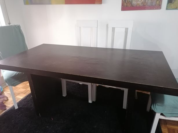 Mesa jantar Madeira preta