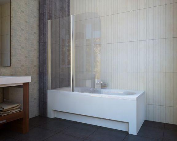 Новая стеклянная штора для душа Koller Pool QP95 Clear левая 115х140см