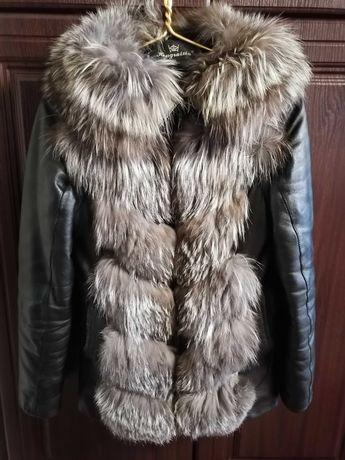 Кожаная куртка, желетка трансформер р 44-46