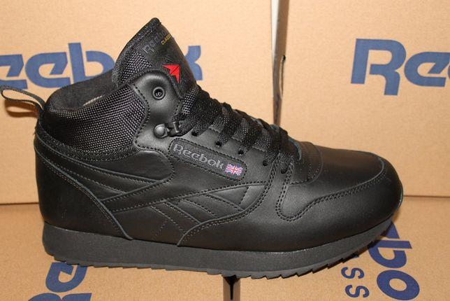 """Reebok-""""икона стиля"""" кроссовки - ботинки черные зимние на меху(1128мех"""