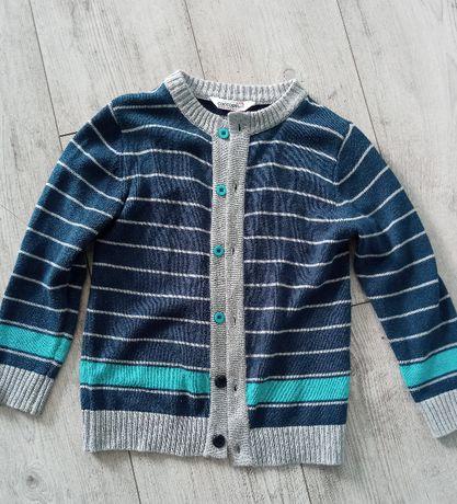 Sweter cocodrillo rozpinany 110/116