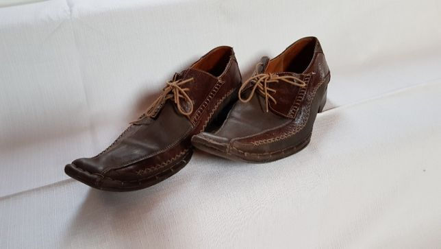 Skórzane buty męskie w roz. 44