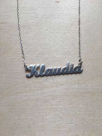 Naszyjnik z imieniem Klaudia