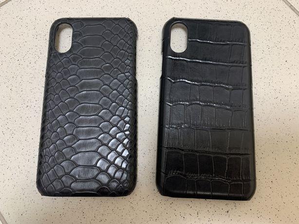 Чехол iphone X XS кожаный