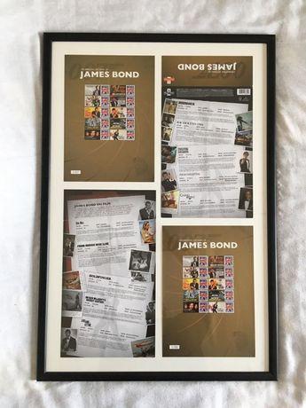 Selos emoldurados 007 - James Bond