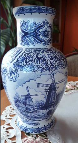 Amfora z T. Delfts Bleau, Vintage Holenderska ceramika