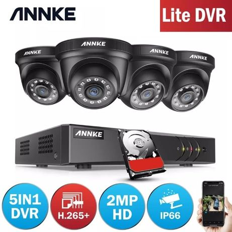 Kit Vídeo Vigilância Profissional 4 Cameras DOME Exterior 1080P BNC