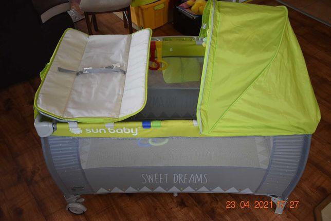 Sprzedam łóżeczko turystyczne z pełnym wyposażeniem SunBaby