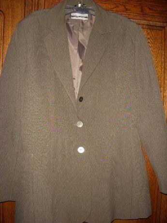 Elegancki żakiet zielony wpadający w brąz, 44