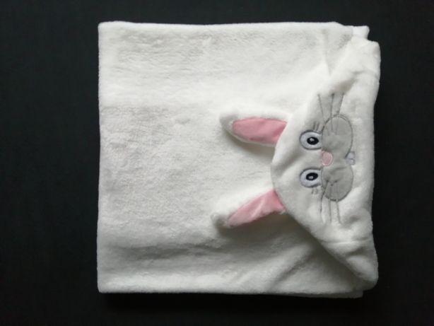 NOWY kocyk ręcznik z kapturkiem
