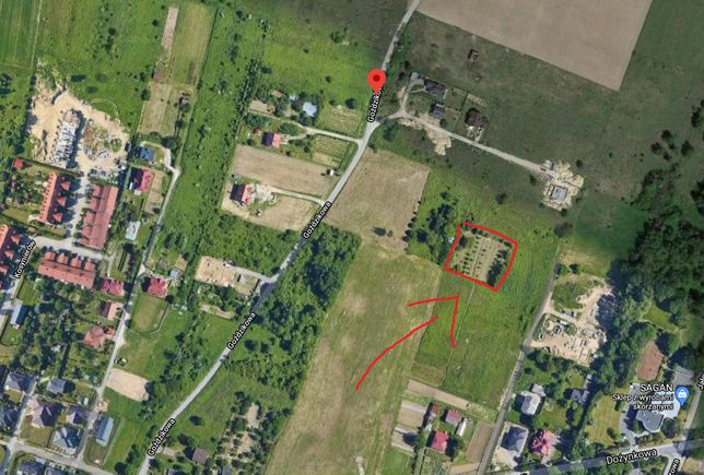Zjawiskowa pełna zieleni działka budowlana 1800m2 Dożynkowa Goździkowa