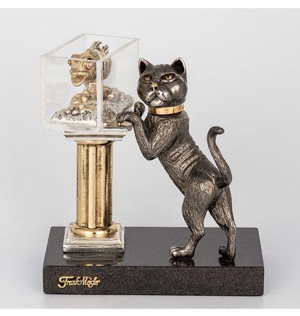 Frank Maisler кот и аквариум. Статуэтка. Скульптура. Драг метал