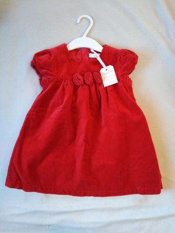 NOWA Sukienka dziewczęca czerwona dla dziewczynki