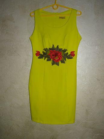 Sukienka roz 38 limonkowa
