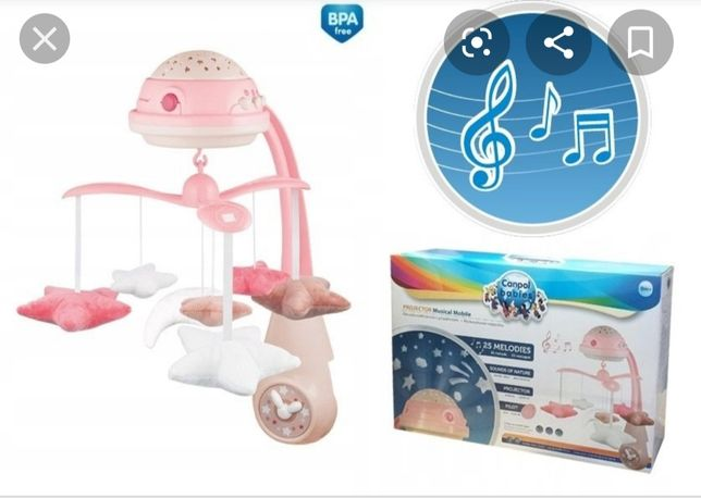 Karuzela Canpol Babies, różowa, projektor
