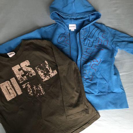 Zestaw bluzka i bluza dresowa z kapturem Diesel, dzieci, 122-128