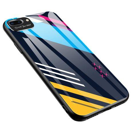 Capa Traseira Tipo Vidro Lmobile Mod. 2 Iphone 7 E 8 Plus - Multicores