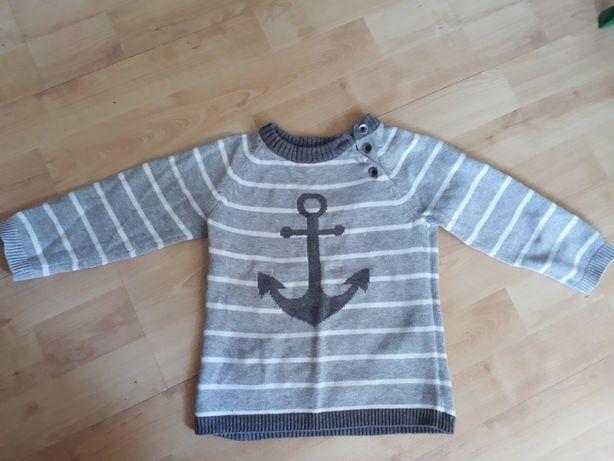 Bluza/sweter z kotwicą H&M, rozm. 86