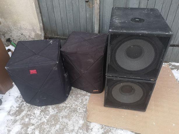 Subbasy kolumny basowe obudowy + pokrowce mbr115 mdf beyma 15lx60