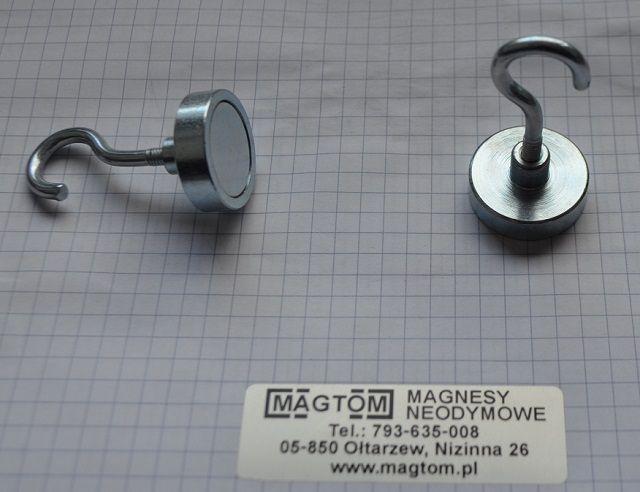 Uchwyt magnes neodymowy z hakiem otwartym M4 Ożarów Mazowiecki - image 1