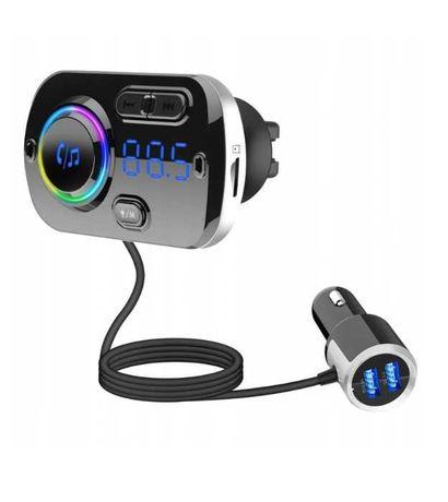 Transmiter FM Samochodowy Bluetooth 2xUSB BC49BQ