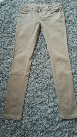 Spodnie Damskie Materialowe Jasny Braz rozmiar 30