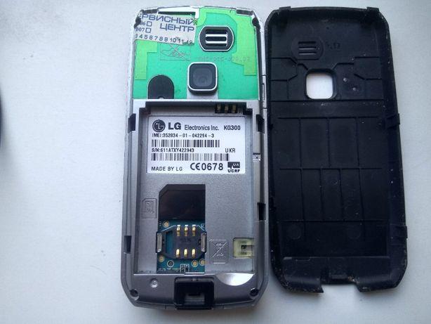 Телефон LG KG300 на запчасти или ремонт