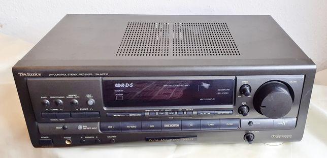 technics sa-ax710 amplificador/sintonizador doby pro-logic c/comando