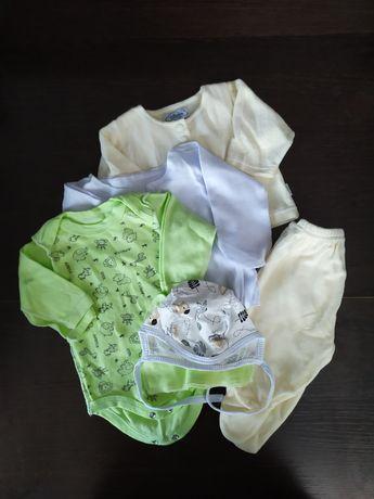 Боди распашонка костюм шапка 56 Вещи из беби бокса