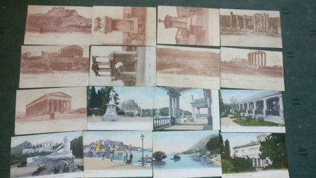 Lote 20 postais antigos da Grécia - Não Circulados