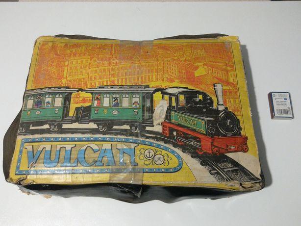 stara zabawka PRL kolejka GDR Anker lokomotywa kluczyk wagoniki Piko