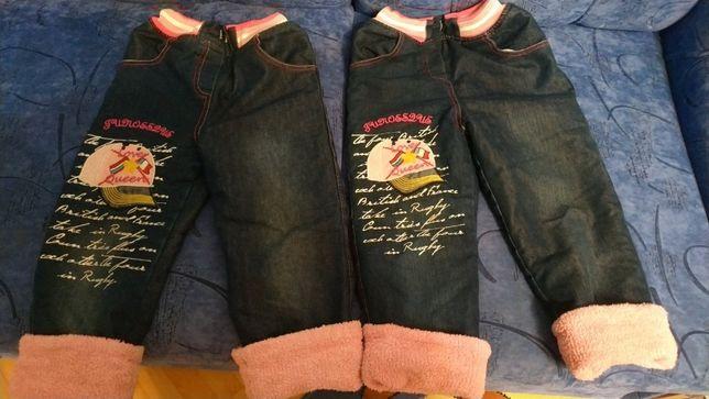 Дві пари дівчачих утеплених джинсів (150+150 грн)