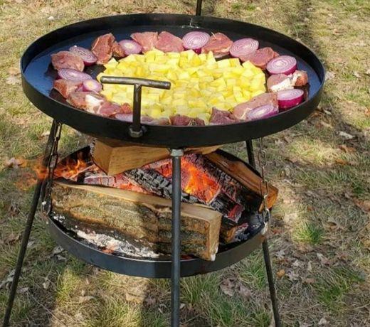 Сковорода 50 см + Садж подставка, диск бороны, пательня, жаровня гриль