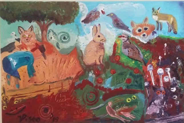 Perto do Bosque, Neo expressionismo; Acrílico sobre tela, 40x60 cm