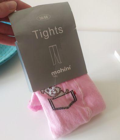 Cubus 62 NOWE rajstopki różowe piesek rajtuzy dla dziewczynki